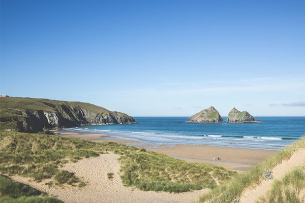 Trevornick on Holywell Bay Beach