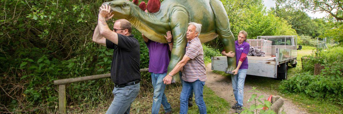 Dinosaurs arrival at Birdland Park and Gardens