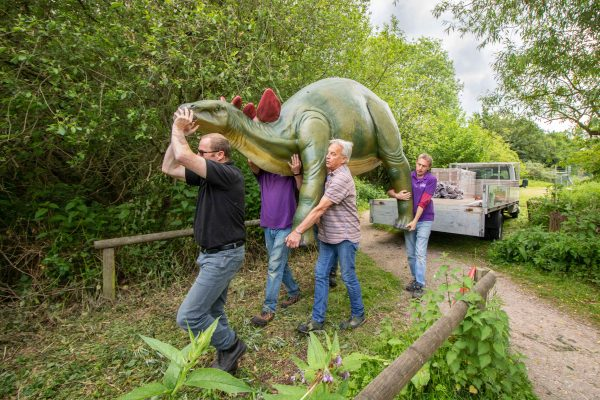 Dinosaurs arrival at Birdland Park and Gardens