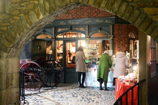 Flambards Christmas Craft Fayre inside the Victorian Village