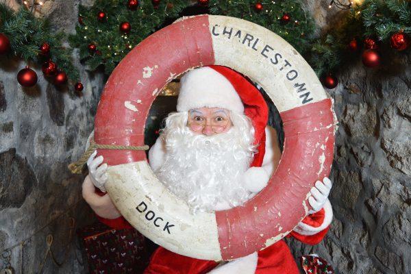 Santa Claus at the Shipwreck Treasure Museum